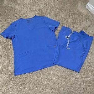Women's Figs Scrubs (Ceil blue) (Medium)